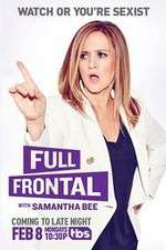 full frontal with samantha bee tv poster